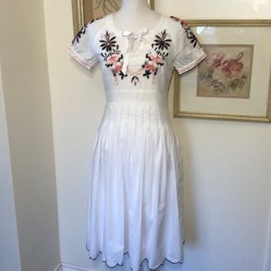 Marc Jacobs White Embroidered Cotton Dress Sz.6